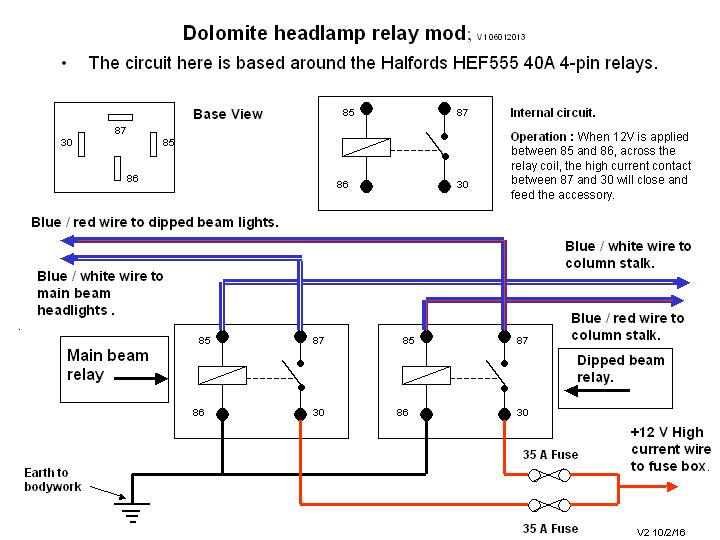 Dolomite headlamp relay mod 12.jpg